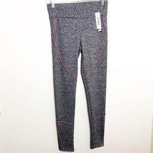 Pants - Space die gray leggings orange and blue seams